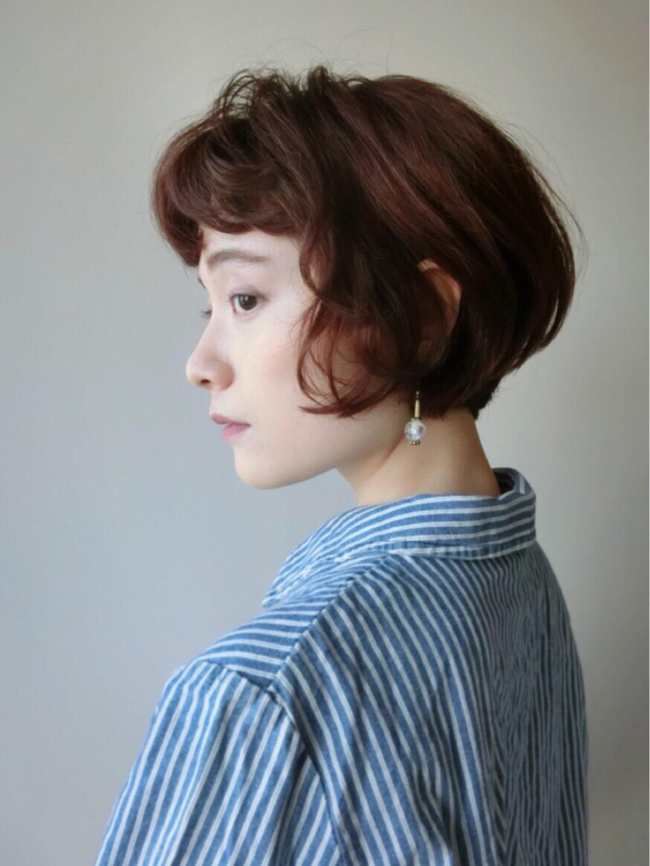 フレンチカジュアルなボブのダークブラウンカラー 尾花 佑輔beauty TUNE SHISEIDO
