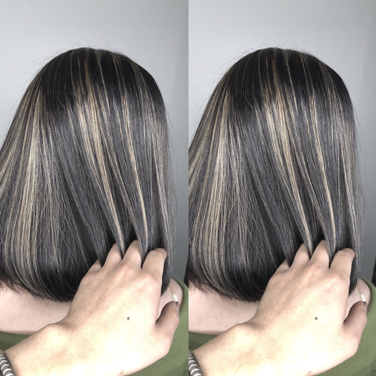 立体感が出るボブのグレージュハイライト 筒井 隆由Hair salon mode