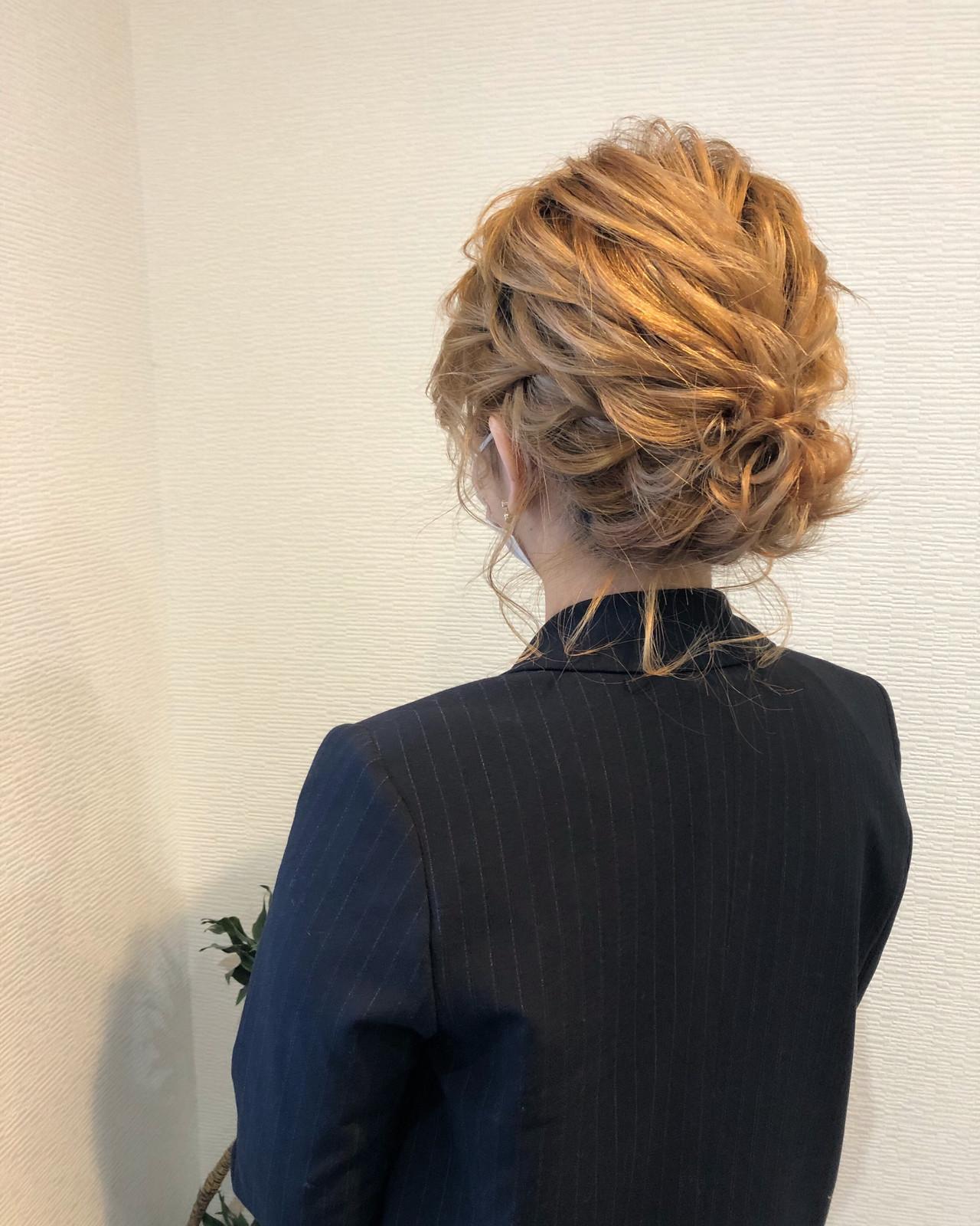 アップ ヘアセット アップスタイル フェミニン ヘアスタイルや髪型の写真・画像