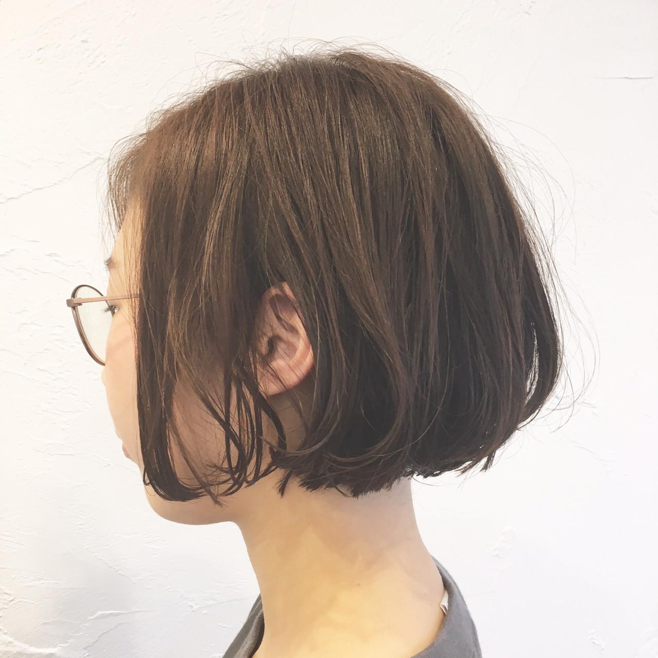 くせ毛風 ボブ 小顔 アンニュイ ヘアスタイルや髪型の写真・画像