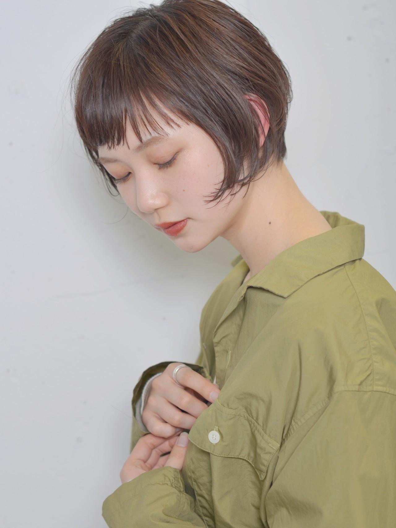 ナチュラル 束感 シースルーバング 抜け感 ヘアスタイルや髪型の写真・画像