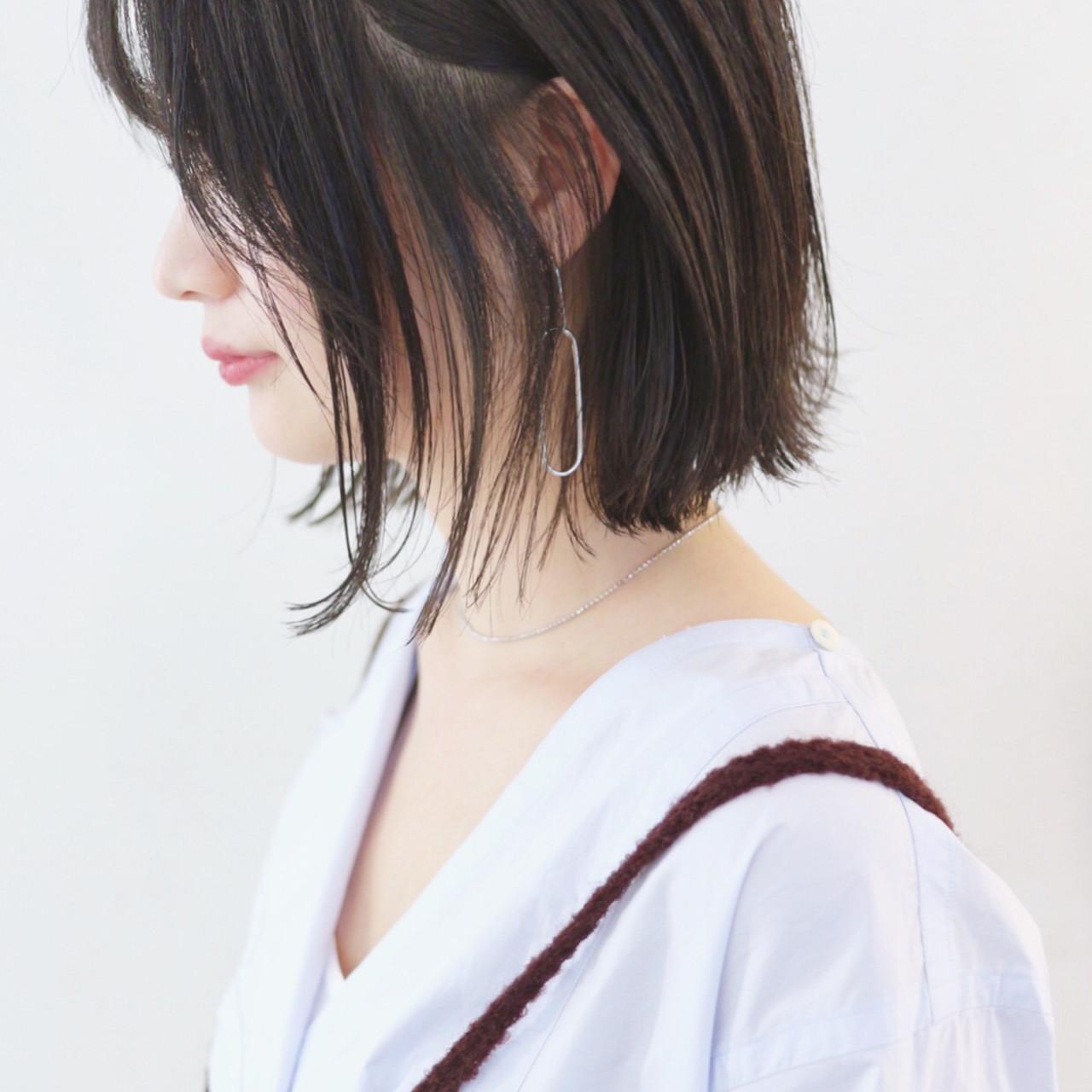 ストレート ボブ 抜け感 外ハネボブ ヘアスタイルや髪型の写真・画像