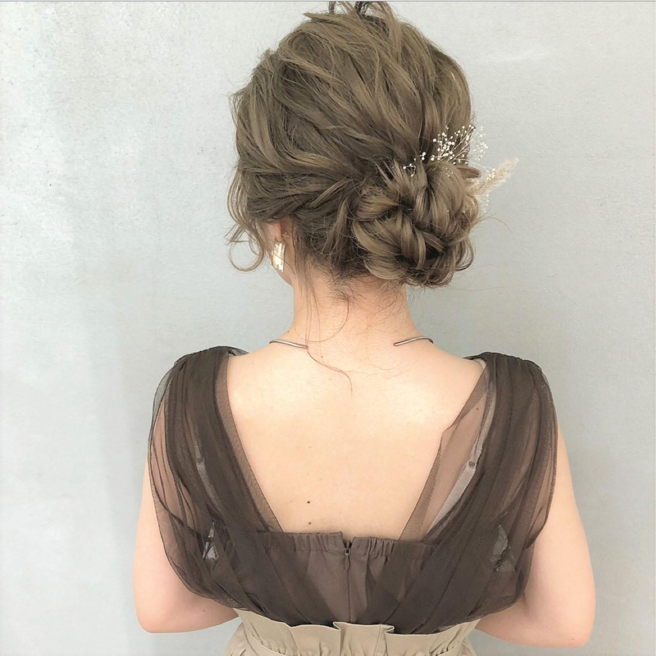 どんなレングスでも華やかに♡結婚式を華やかに飾るアップヘア