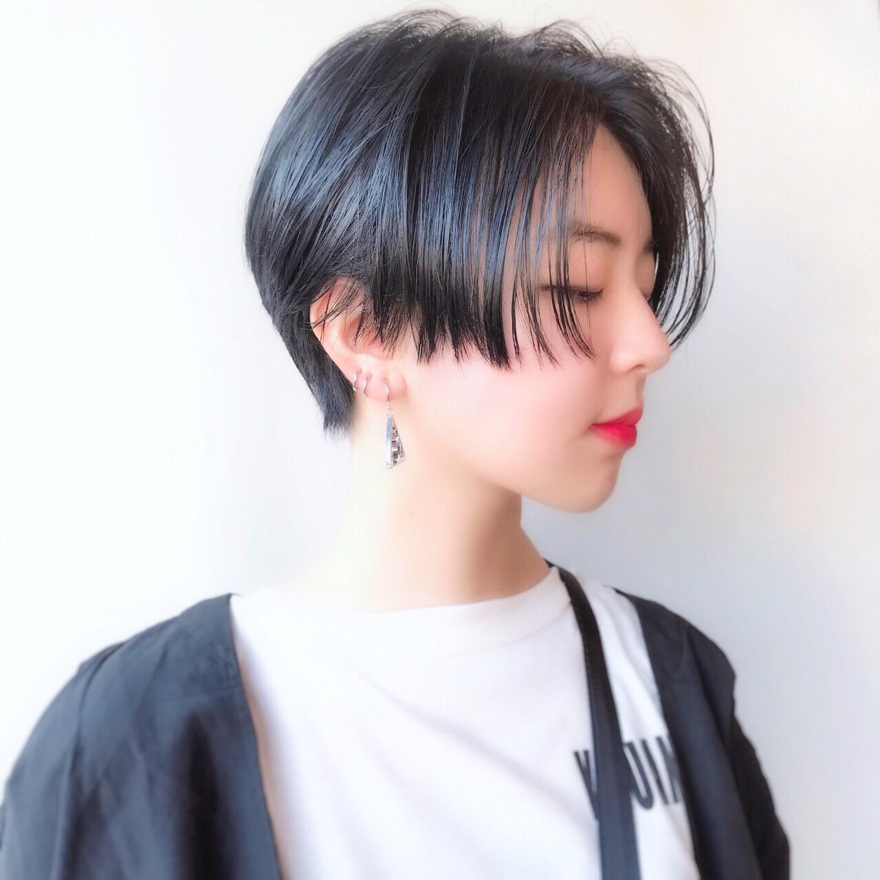すっきりしたハンサムショートがトレンド Marie Tagawa 【morio原宿】