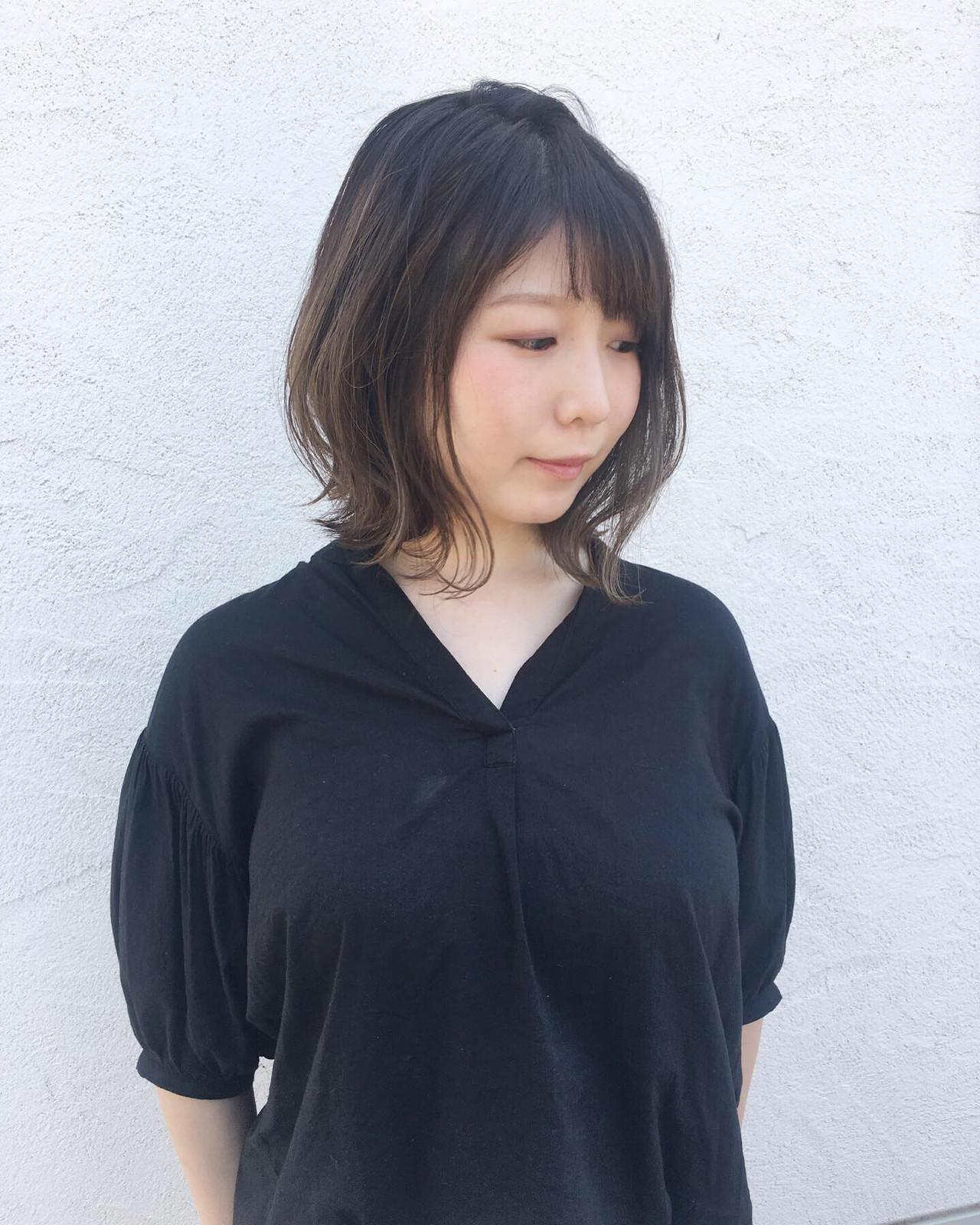 面長さんを小顔見せする大人カワイイ髪型 原田あゆみ/coquille/コキーユ