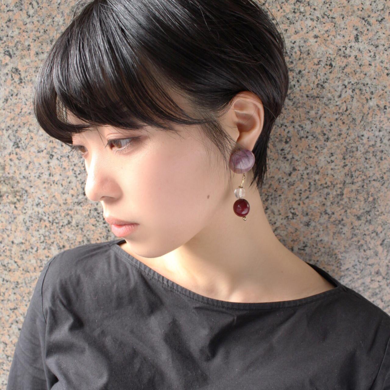 面長さんに♡丸いフォルムの黒髪髪型 ムラマツ タケシ【morio原宿/成増】