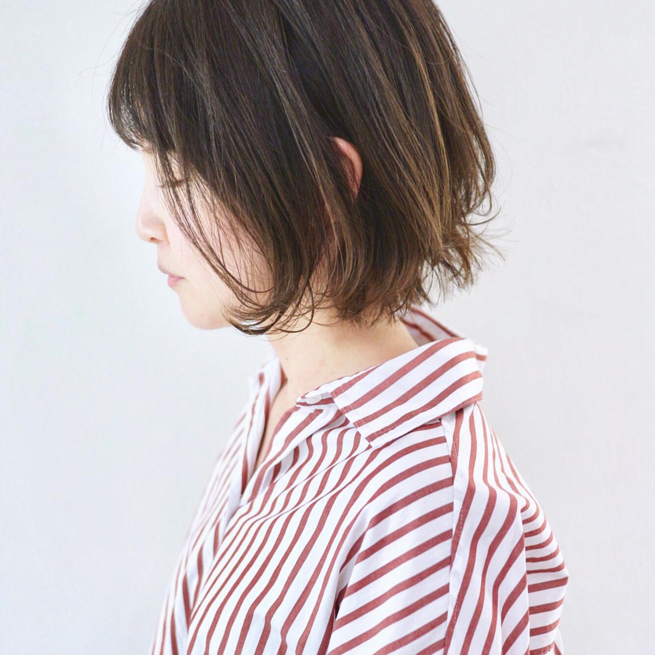 外国人風カラー グラデーションカラー ミニボブ ナチュラル ヘアスタイルや髪型の写真・画像