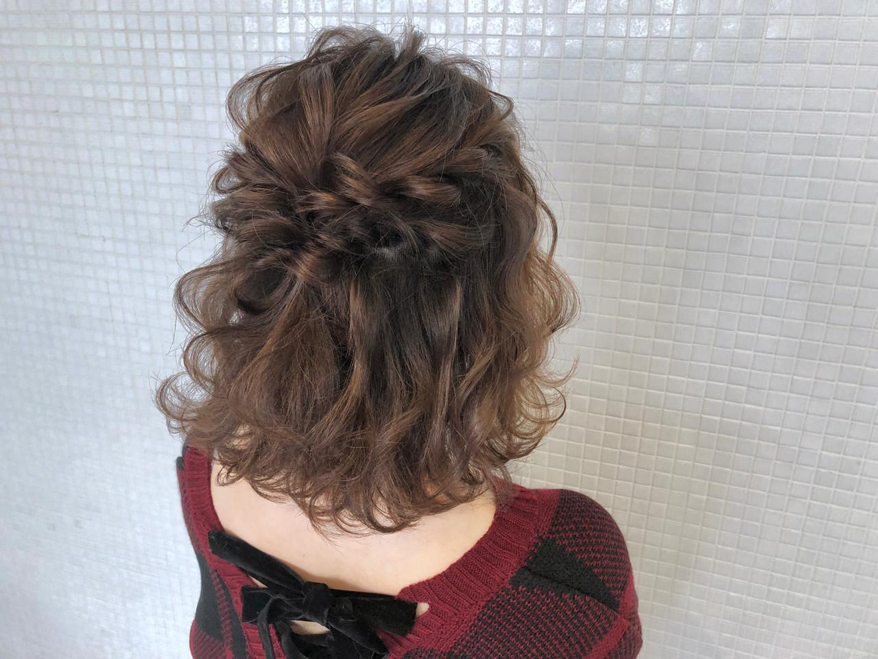 人気の編みウェーブヘアでふんわりハーフアップ takashi cawamura