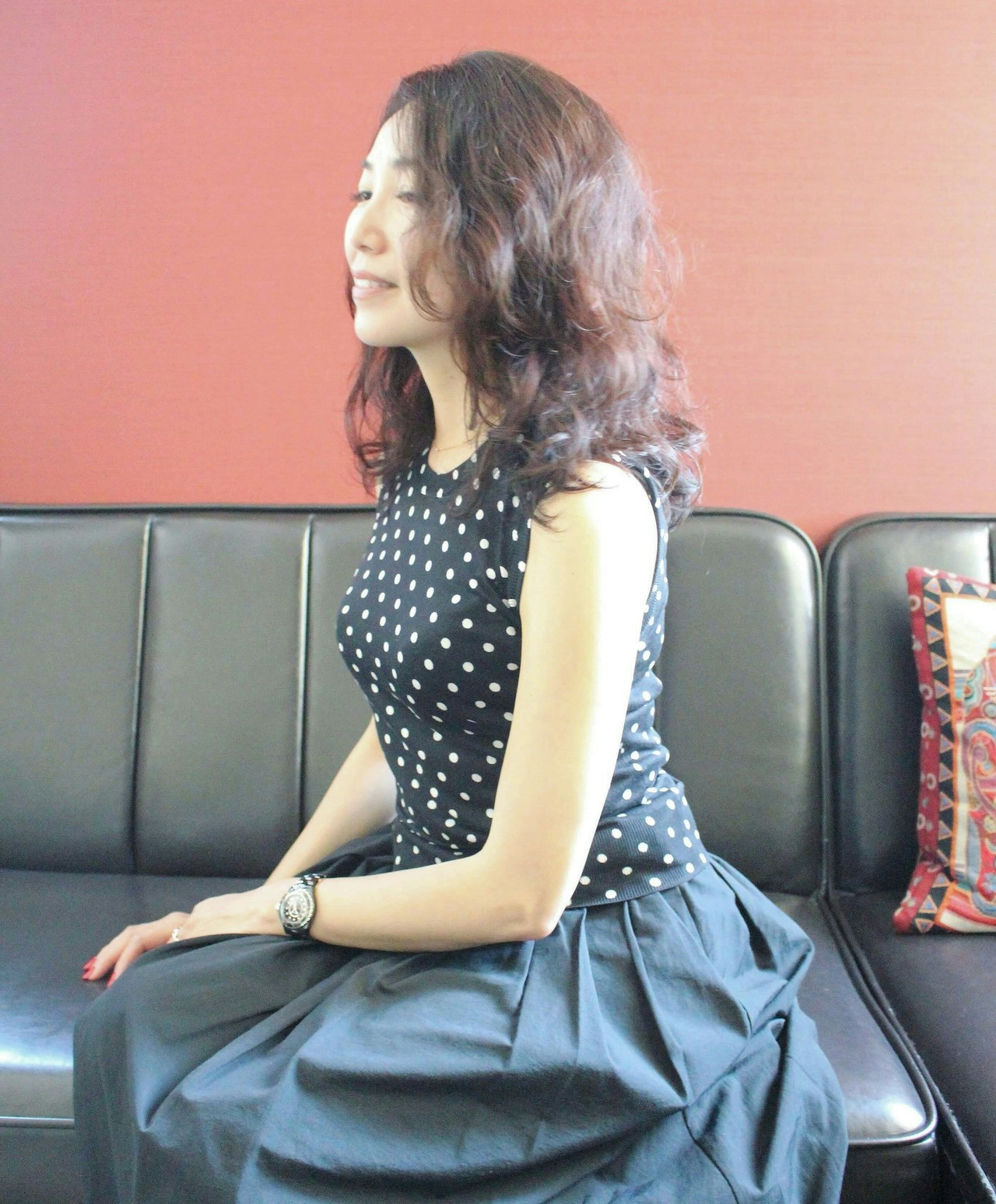 アンニュイほつれヘア ミディアム おフェロ デジタルパーマ ヘアスタイルや髪型の写真・画像