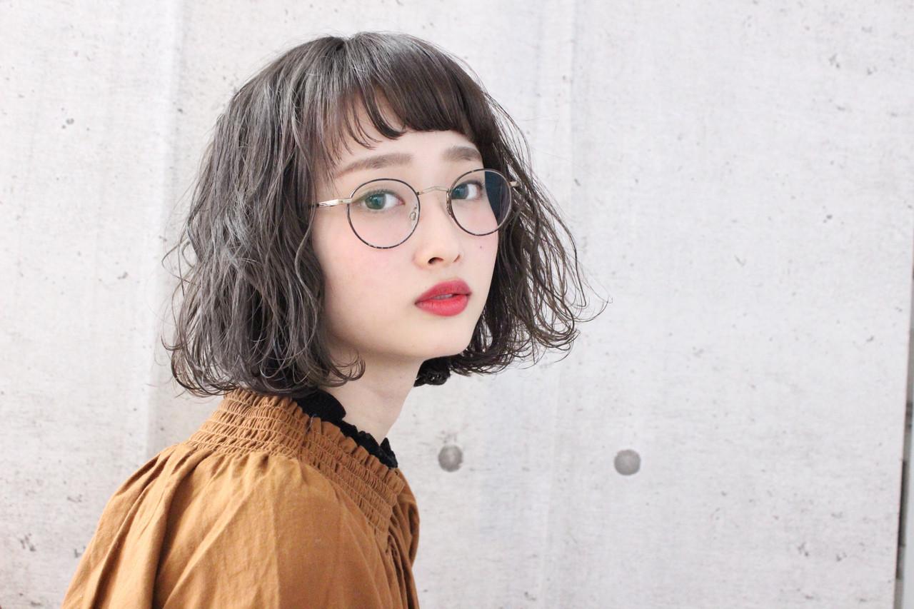 前髪オン眉で垢抜けて♡レトロミックスヘア 上田智久 福岡 天神