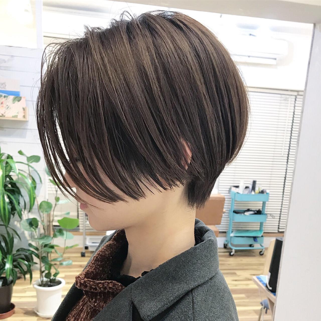 ナチュラル ショート ベリーショート ヘアスタイルや髪型の写真・画像