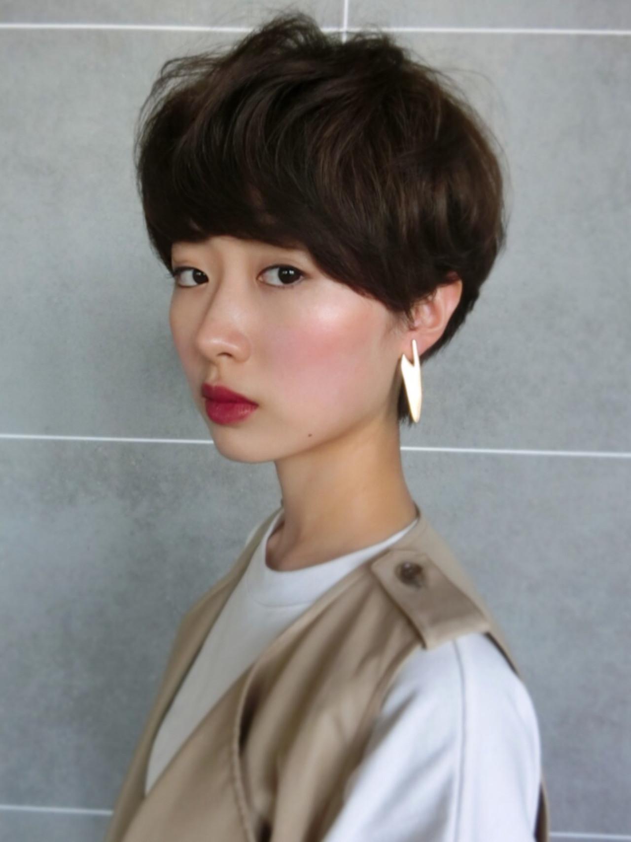 マッシュタイプのコロンとかわいいショートヘア 尾花 佑輔