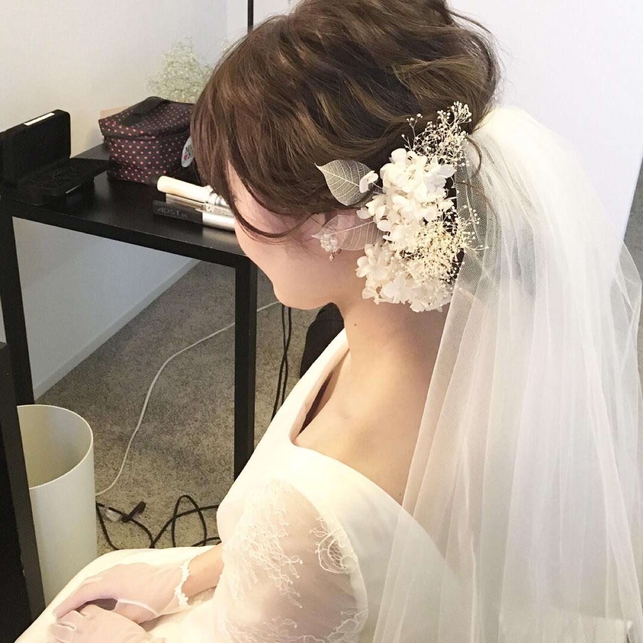 波ウェーブでつくるロングのアップスタイルの髪型 原田あゆみcoquille/コキーユ