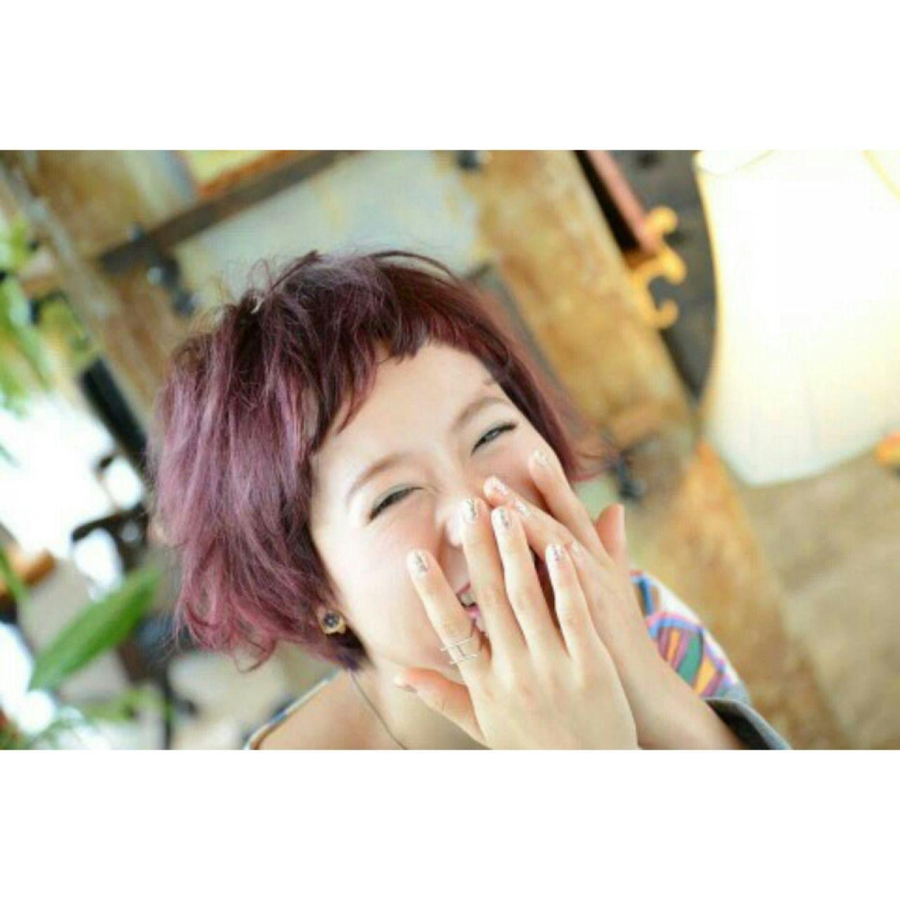 ボーイッシュベリーショートにピンクをプラス♡ 長谷川 愛