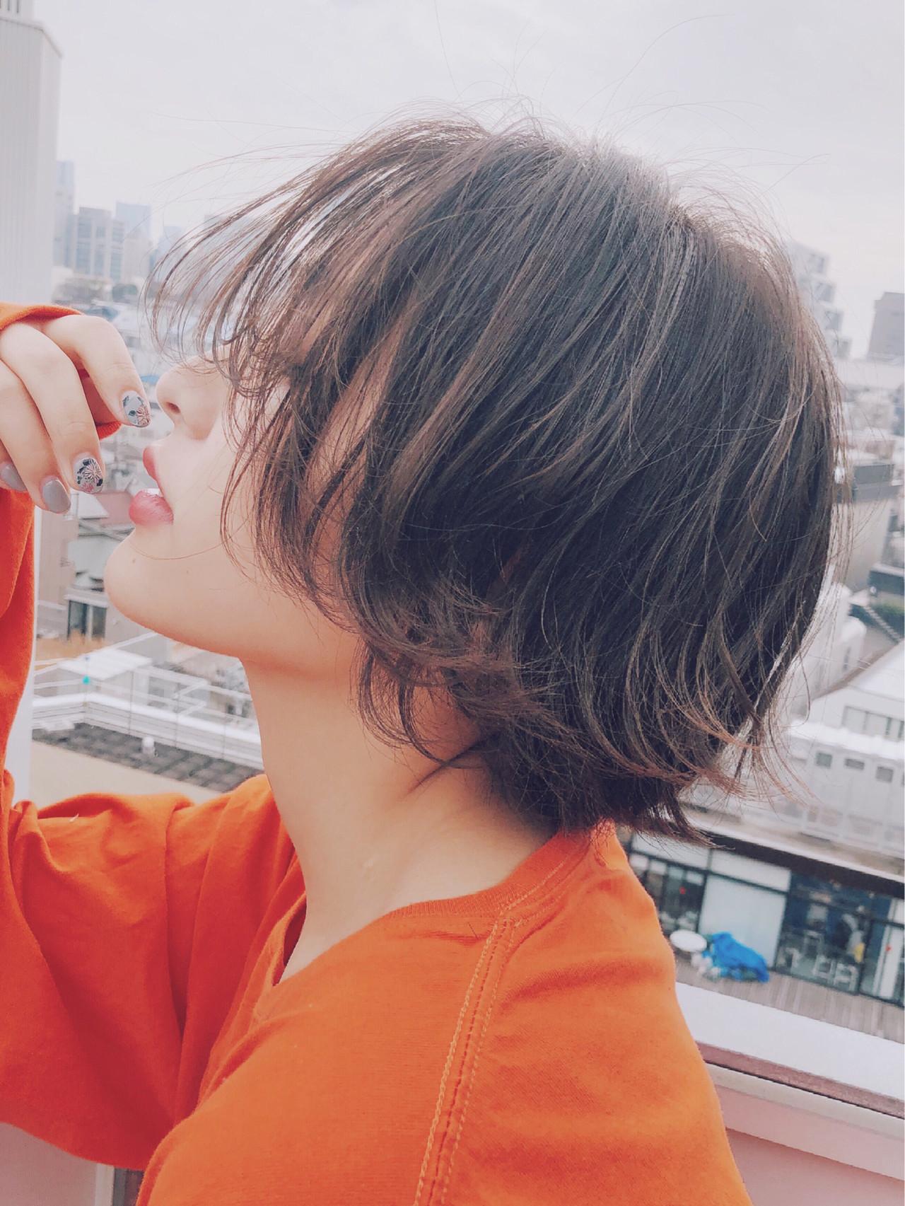 長め前髪で色っぽ♡アンニュイショートヘア December/ 山本航大