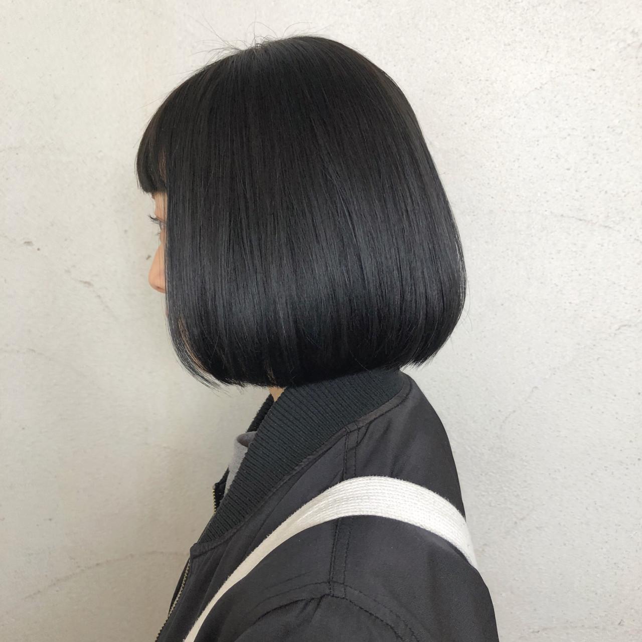 オルチャン風の黒髪ボブ Keiichiro Nakazato