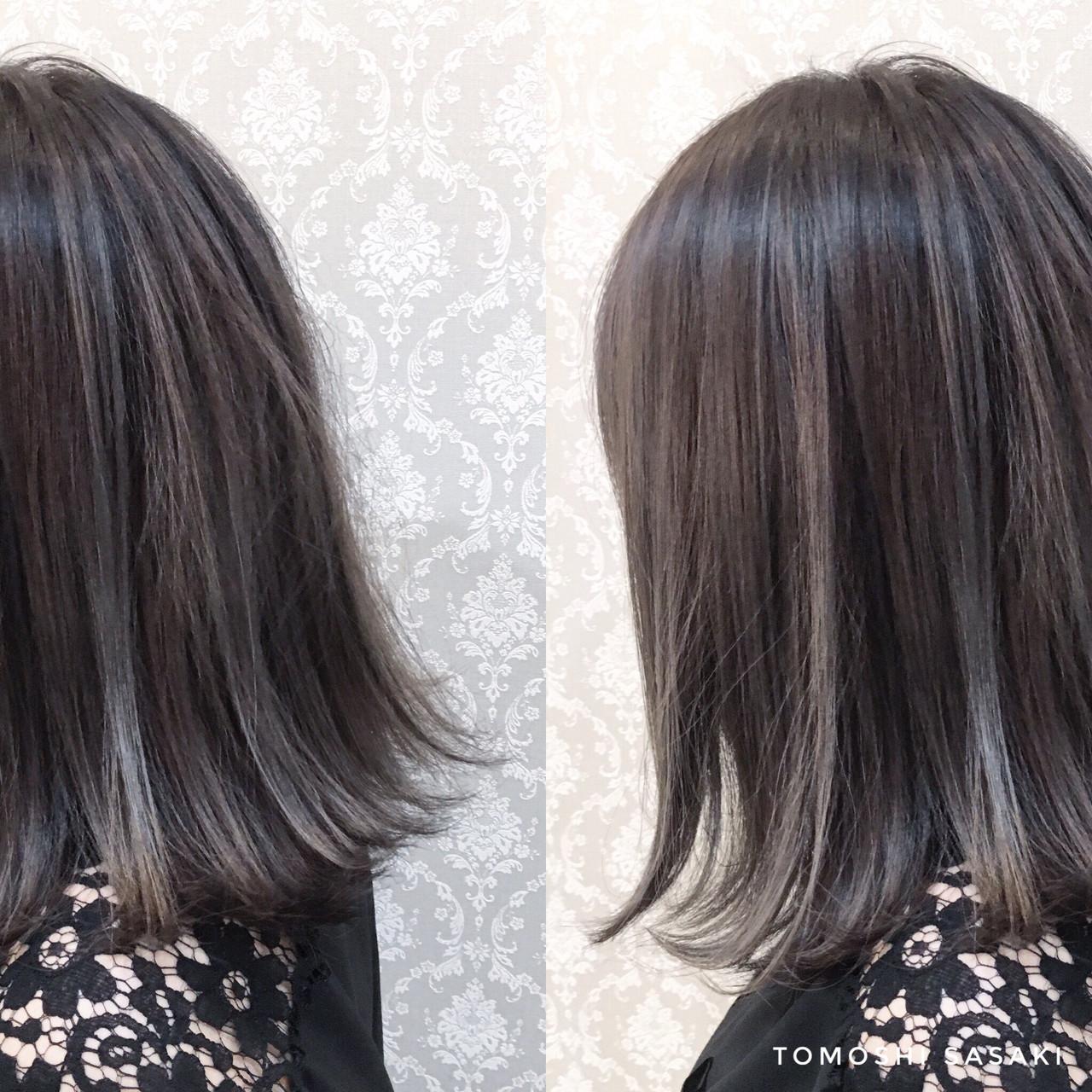 ダークグレーで作る垢抜け感溢れる暗髪ボブ ササキ トモシCecil hair 札幌店
