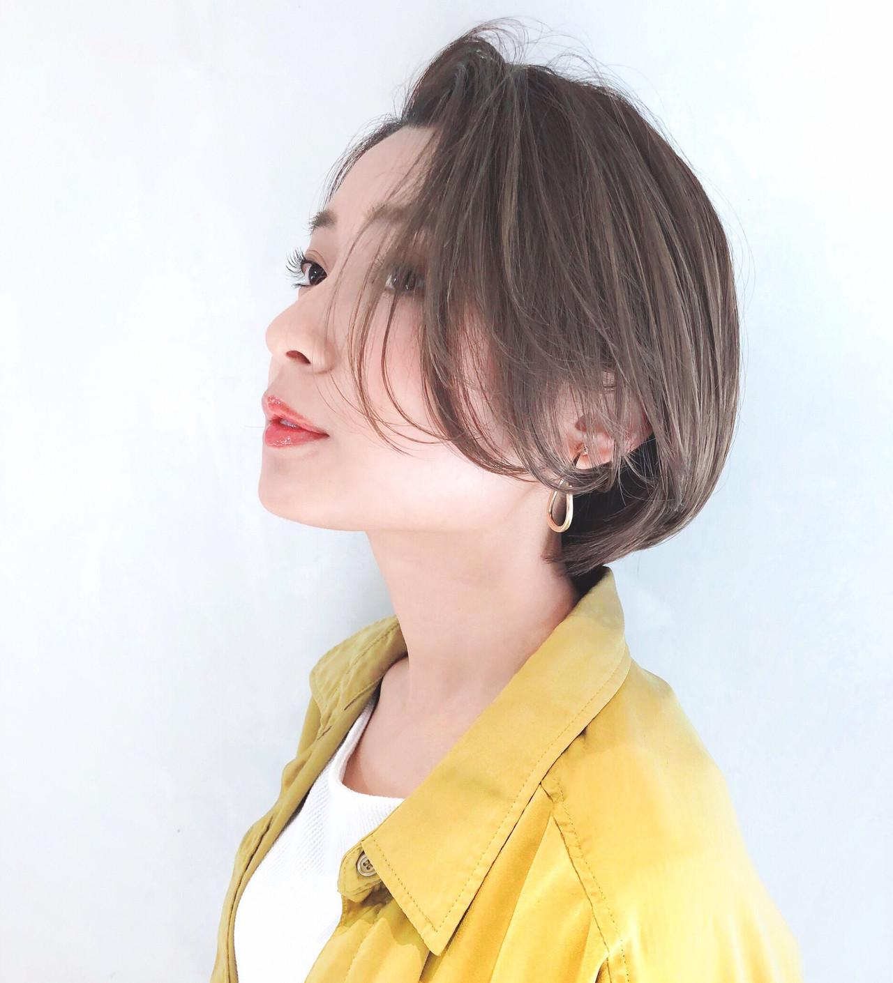 トップふんわり♡大人女性の可愛いかき上げボブ 豊田楓
