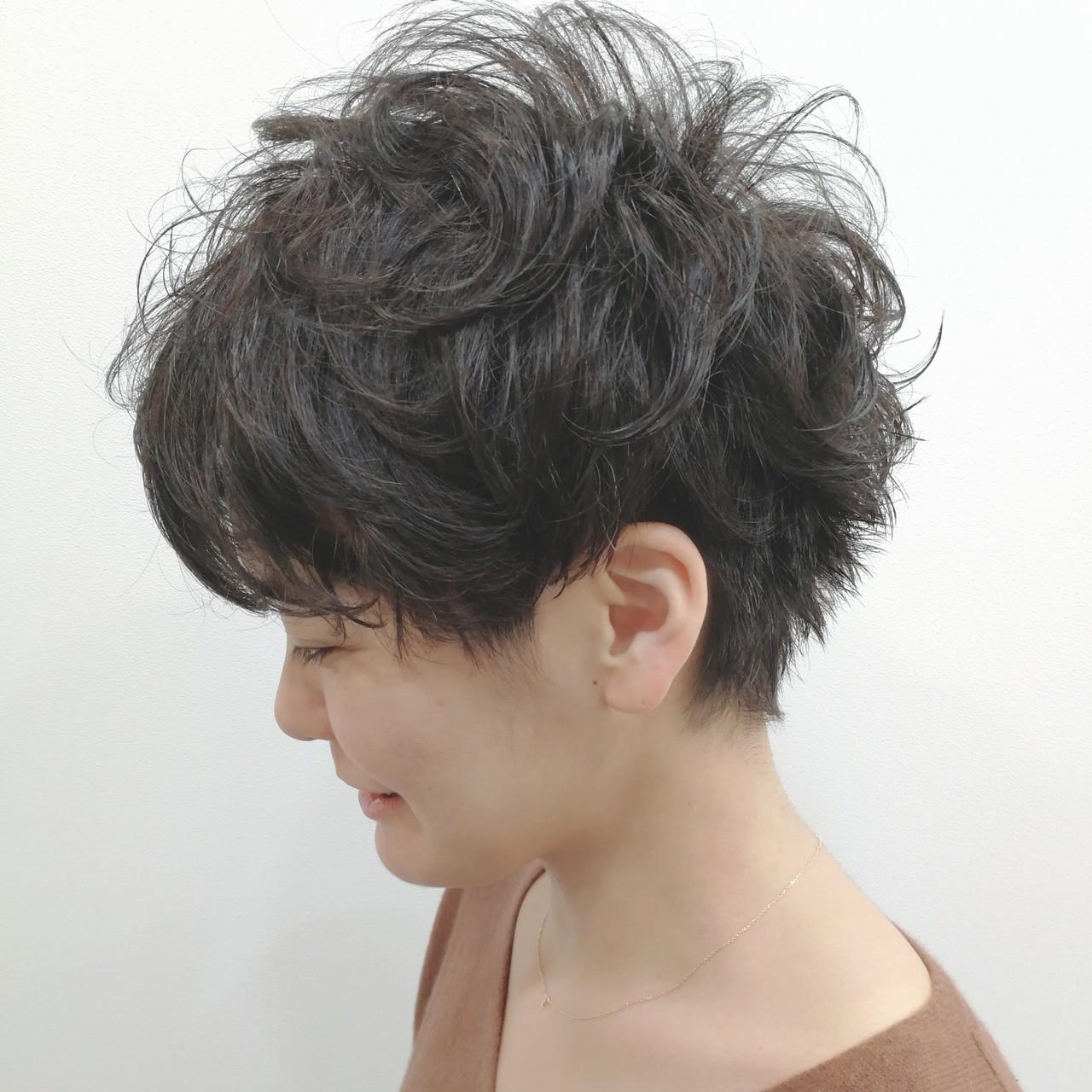 ふんわりパーマで魅せる☆大人女性のツーブロック Saori Kastuki