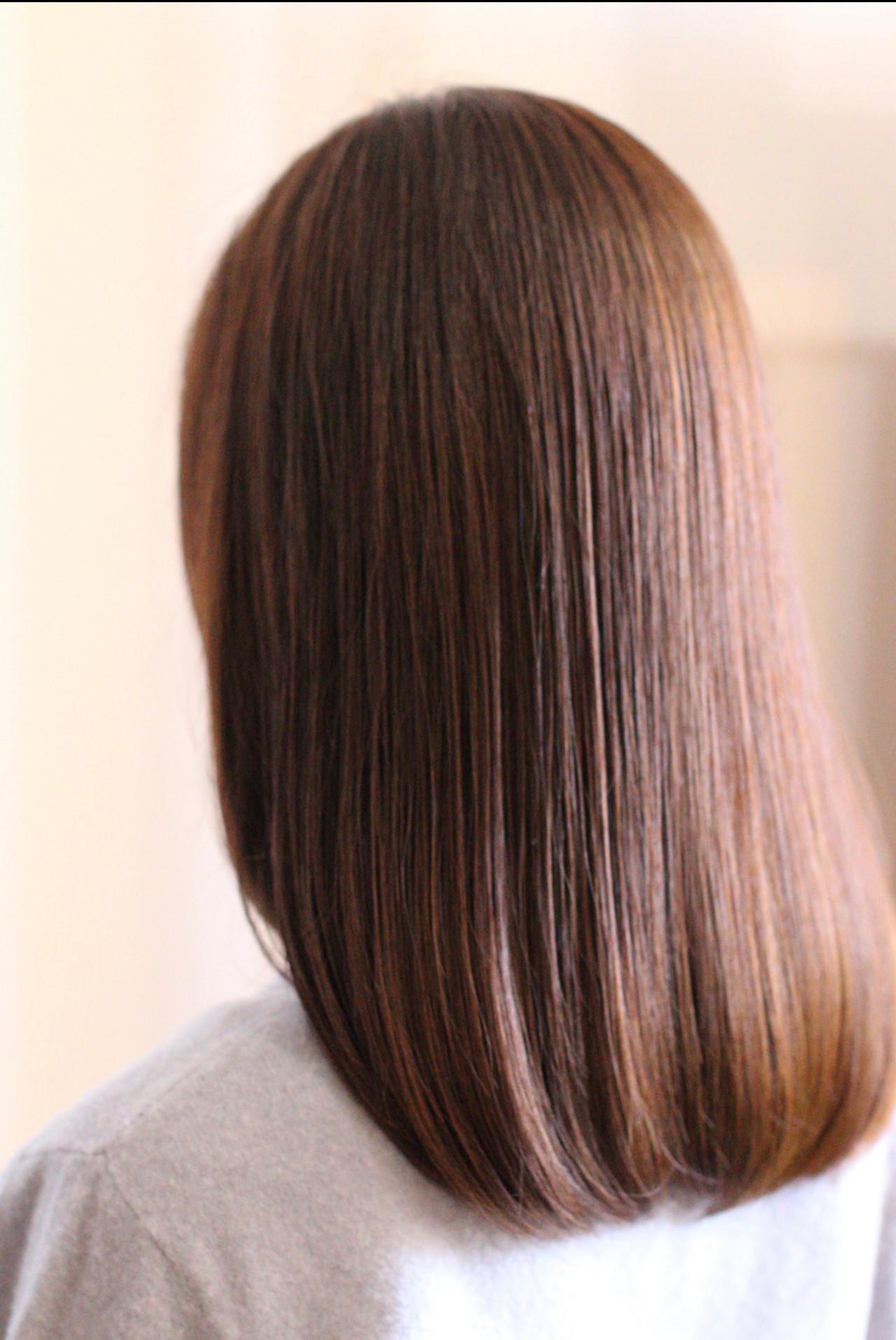 ミディアム 気品 ナチュラル 透明感 ヘアスタイルや髪型の写真・画像