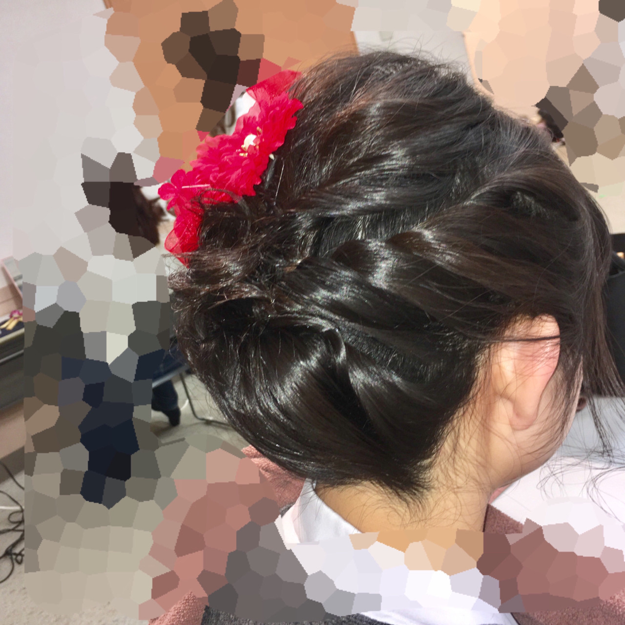 ねじり×編み込みの崩れにくいアップヘア 鈴木 健太郎