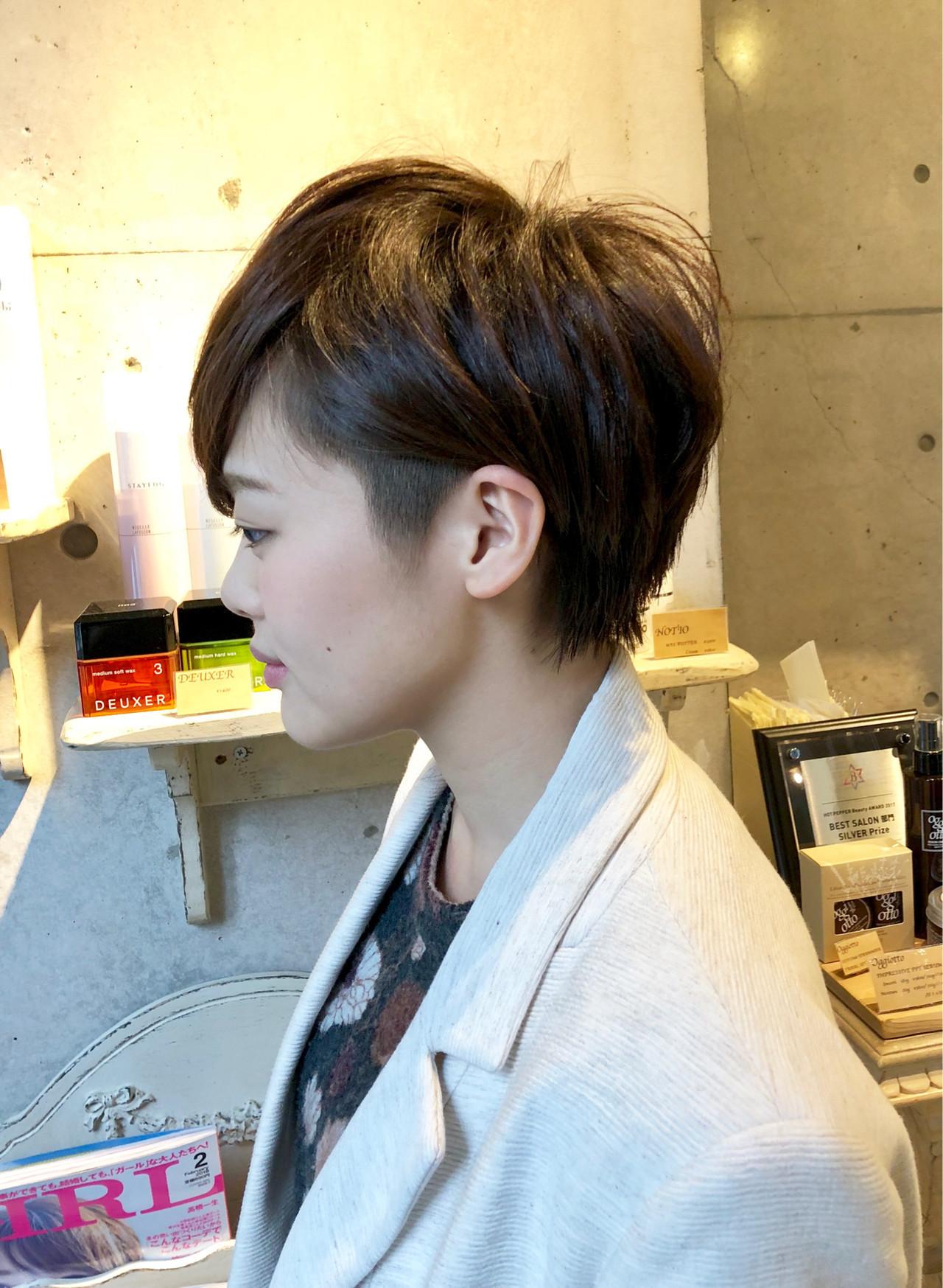 オフィスOKの40代女性ツーブロックヘア 文野孝弥