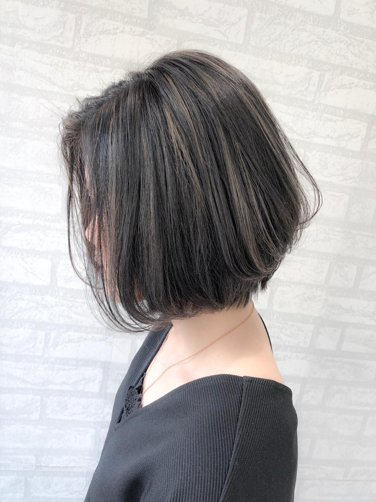 旬のアディクシーカラー×前髪なしショートボブ 丸山 大樹zina tokyo