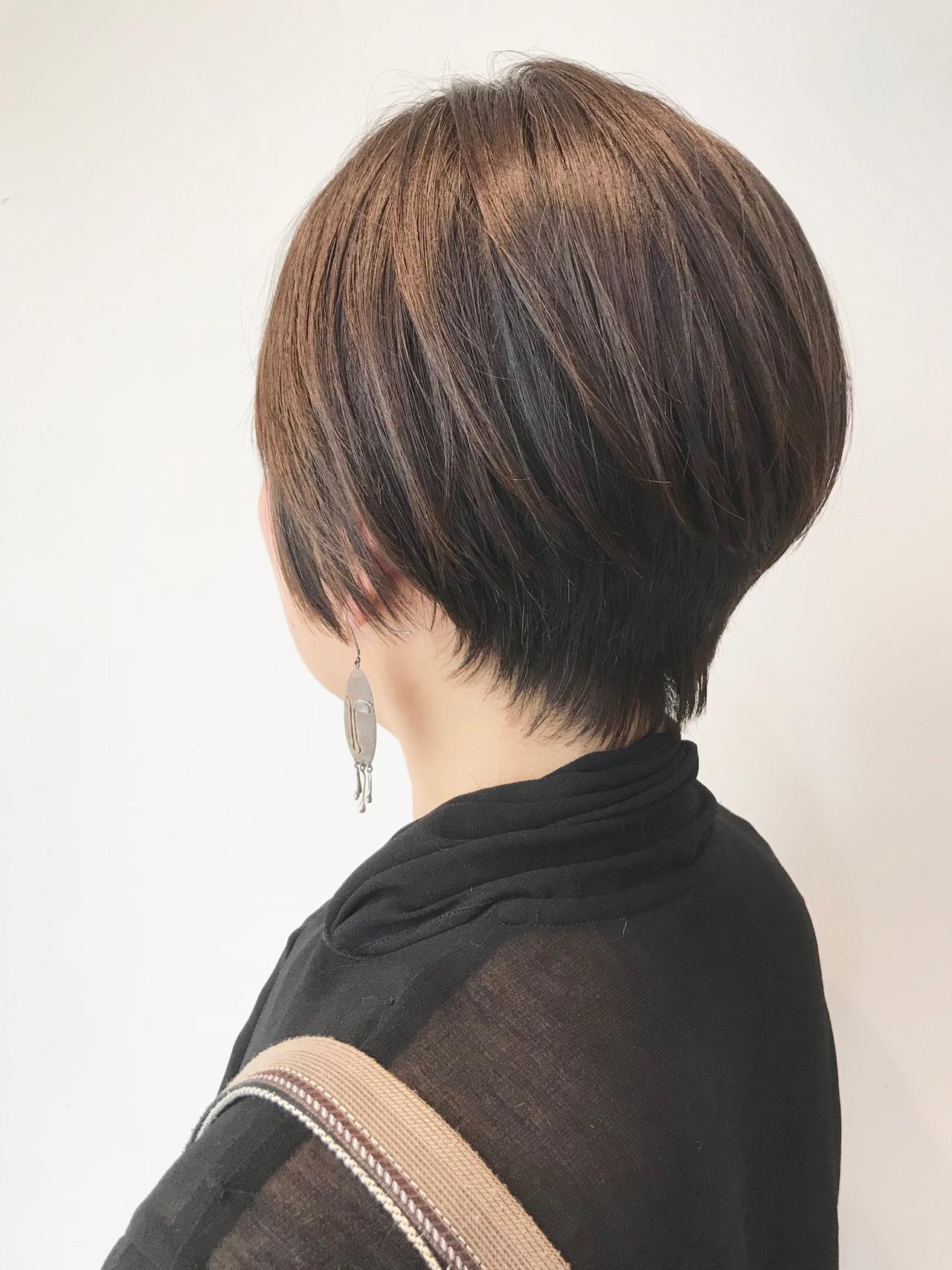 ショート 小顔ショート ナチュラル ベリーショート ヘアスタイルや髪型の写真・画像