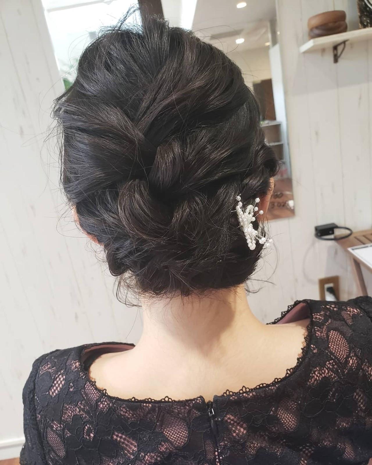 ボブ 結婚式 デート ヘアアレンジ ヘアスタイルや髪型の写真・画像