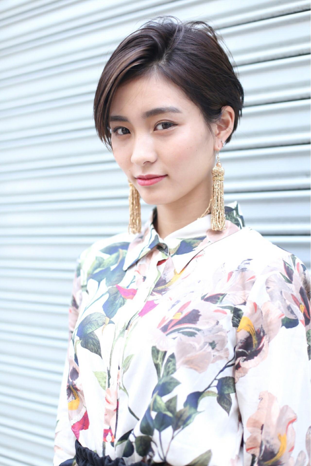 社会人必見!黒髪×ツーブロックで上品な印象 Rika Fuchigami