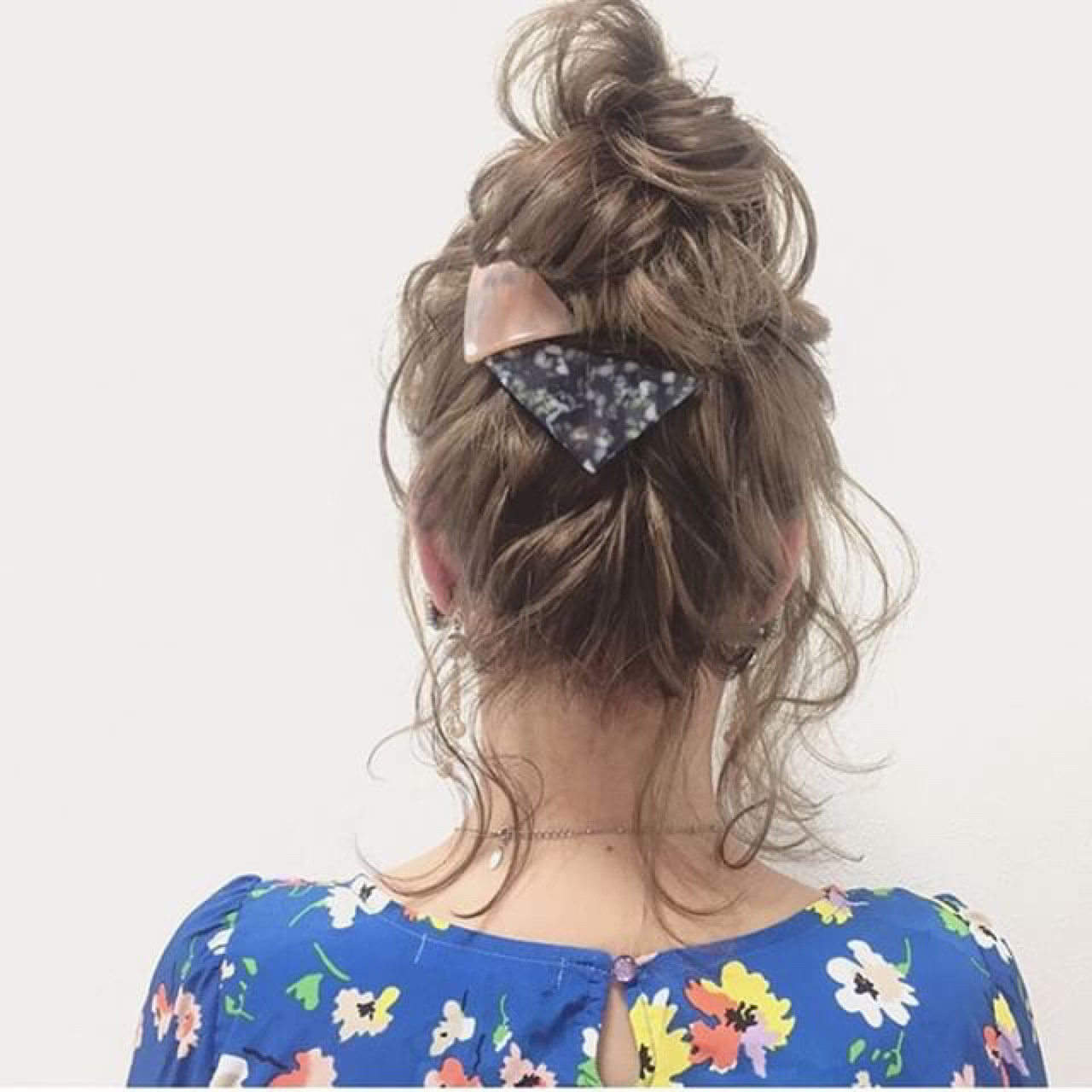 ふわふわ ショート ボブ お団子 ヘアスタイルや髪型の写真・画像