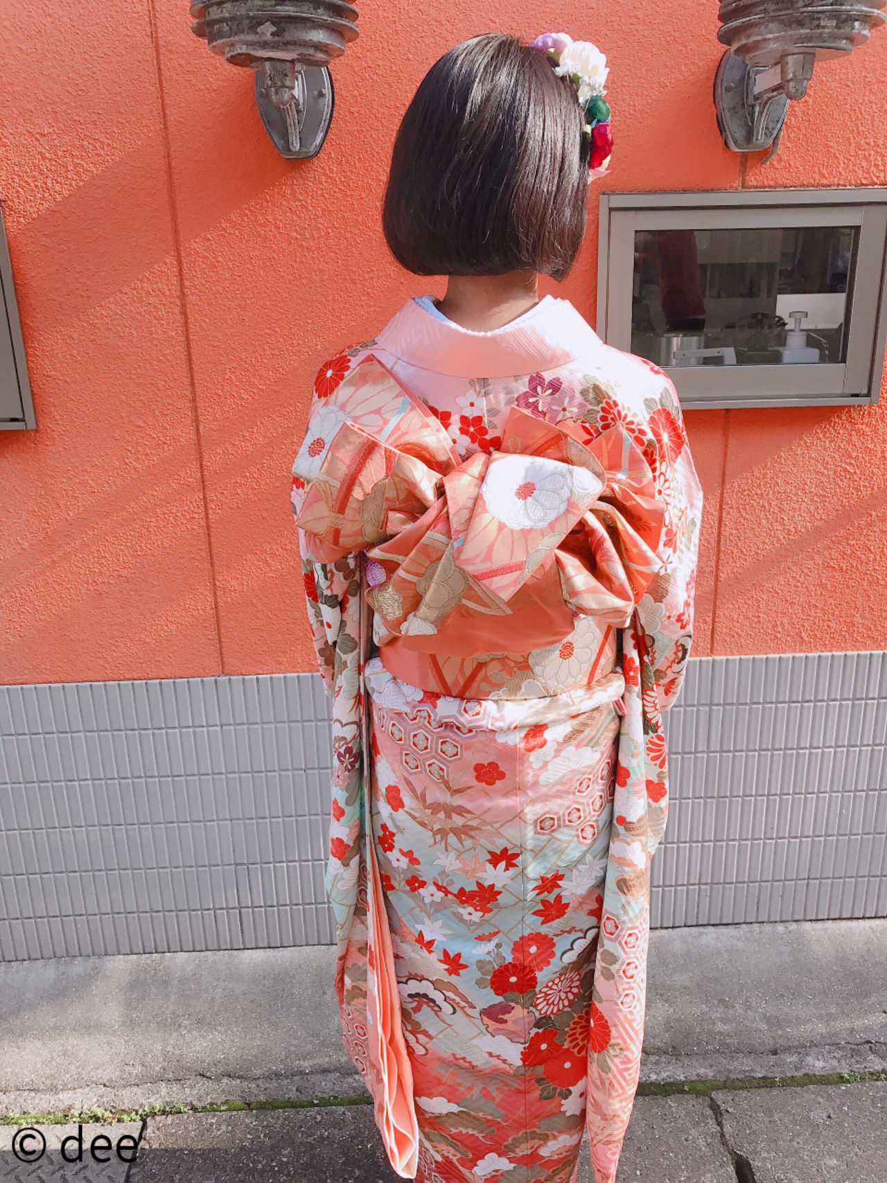 ボブアレンジ ヘアセット 着物 ヘアアレンジ ヘアスタイルや髪型の写真・画像