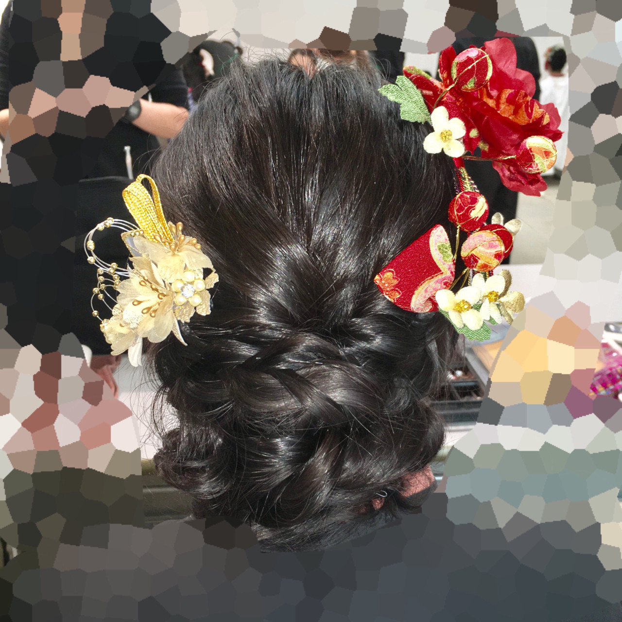 編み込み×お団子でつくるすっきりまとめ髪♡ 鈴木 健太郎