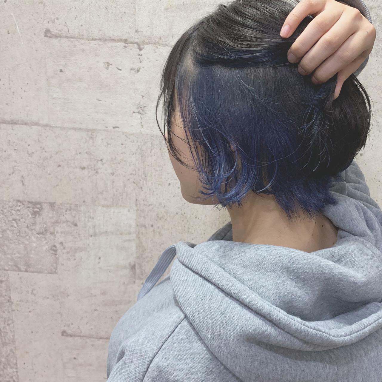 さりげないインナーカラーで見せるのがポイント ヨシダタイシCHERIE hairdesign