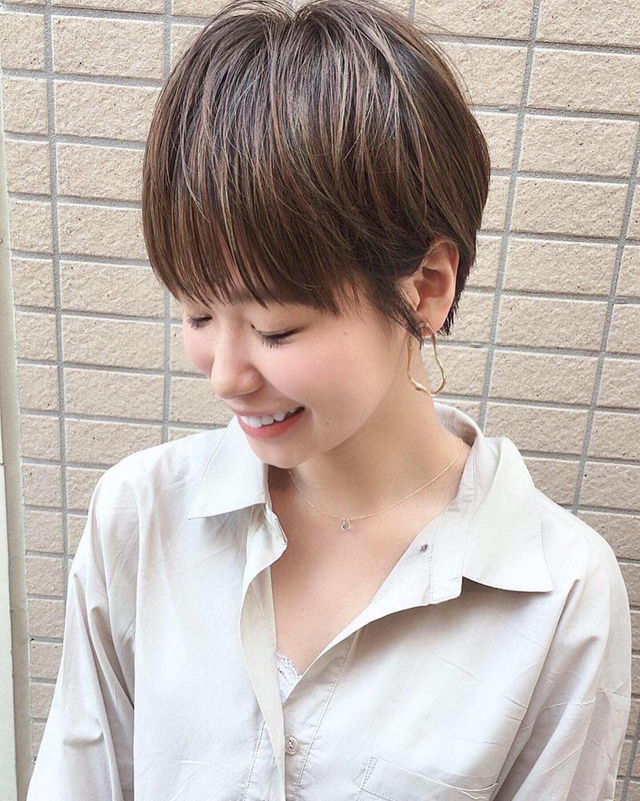 丸みフォルムの大人可愛いベリーショート 島田 雅斗