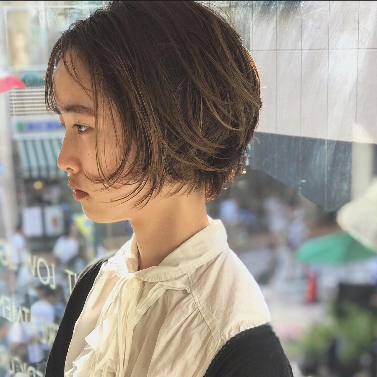 ハイライトたっぷりで立体感アップ 再現出来るショートヘア小山千覚kakimoto arms新宿店