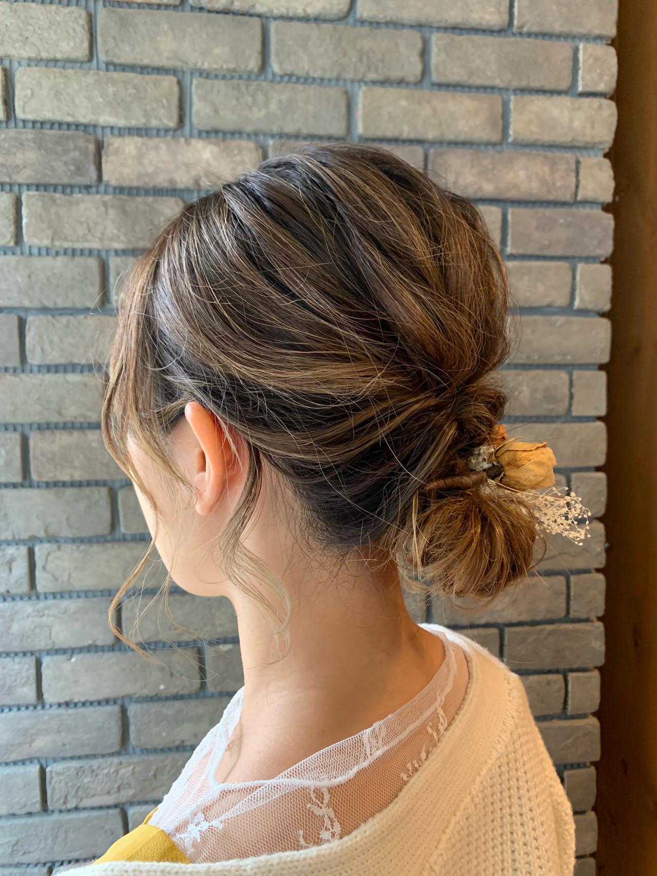 デート ヘアアレンジ 結婚式ヘアアレンジ フェミニン ヘアスタイルや髪型の写真・画像