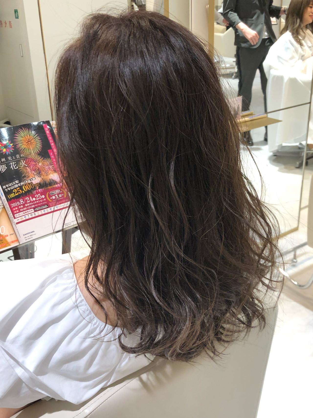 簡単ヘアアレンジ ナチュラル ミディアム 3Dハイライト ヘアスタイルや髪型の写真・画像