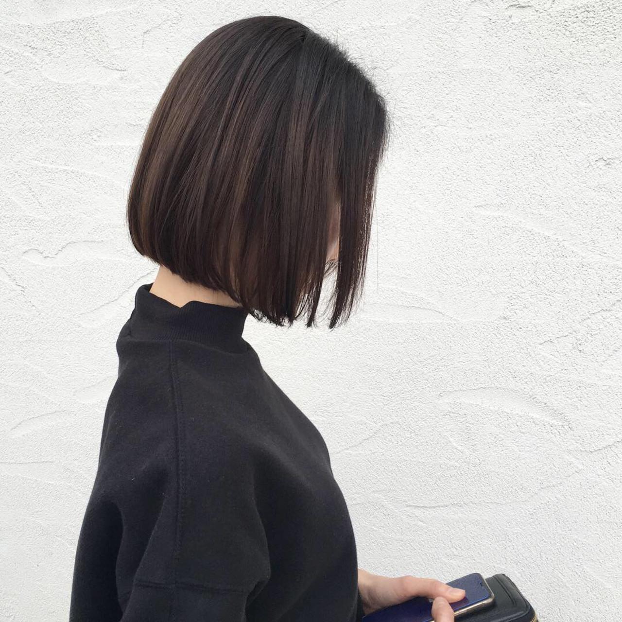 前下がりのストレートボブで小顔効果♡ 原田あゆみcoquille/コキーユ