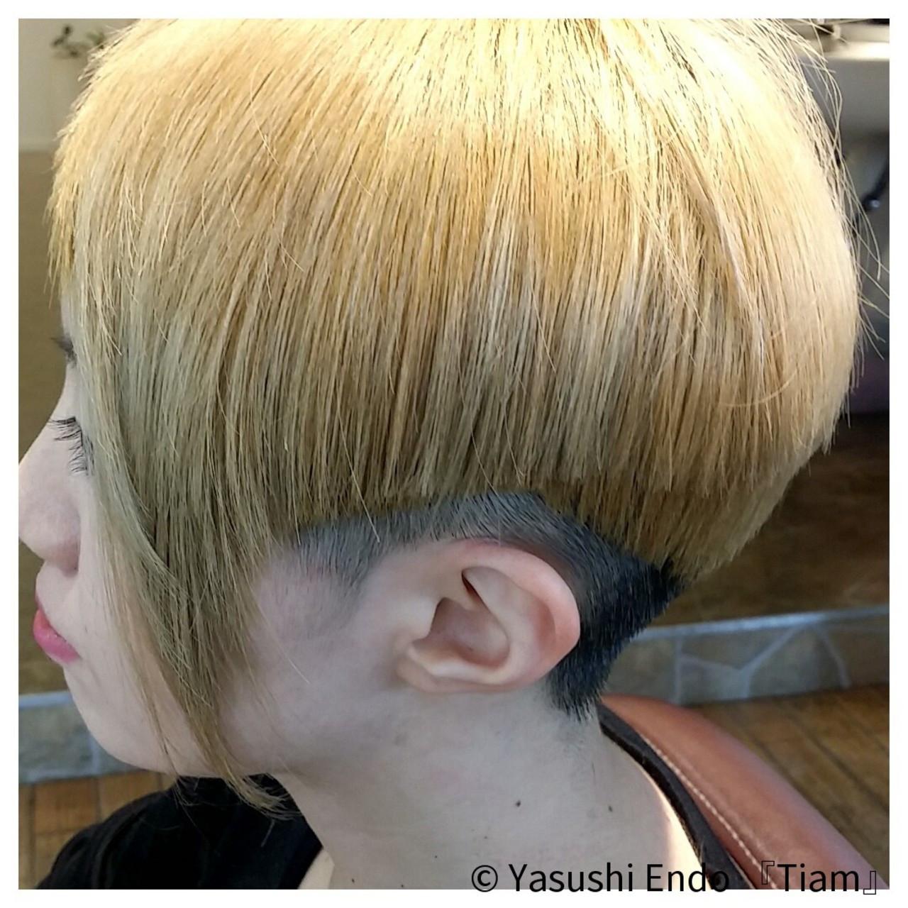 モード系に♡耳周り×後ろ刈り上げのアレンジ Yasushi Endo 『Tiam』