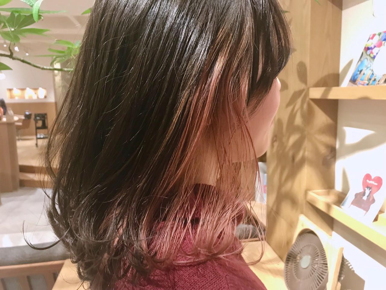 透明感カラー アンニュイほつれヘア ナチュラル ピンクベージュ ヘアスタイルや髪型の写真・画像