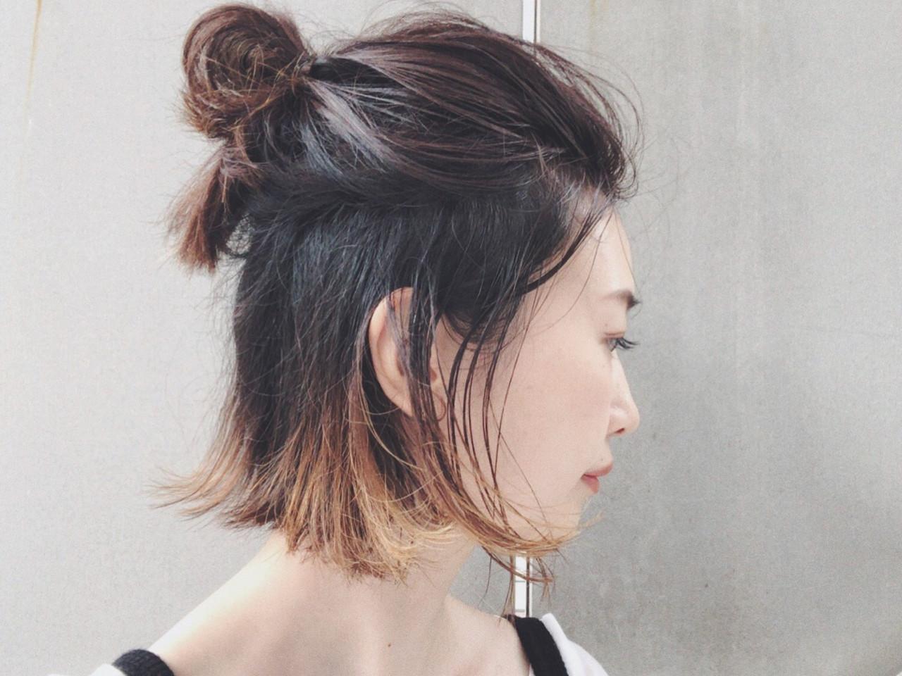 外ハネボブ×お団子ハーフアップでこなれ感♪ 三好 佳奈美Baco.(バコ)