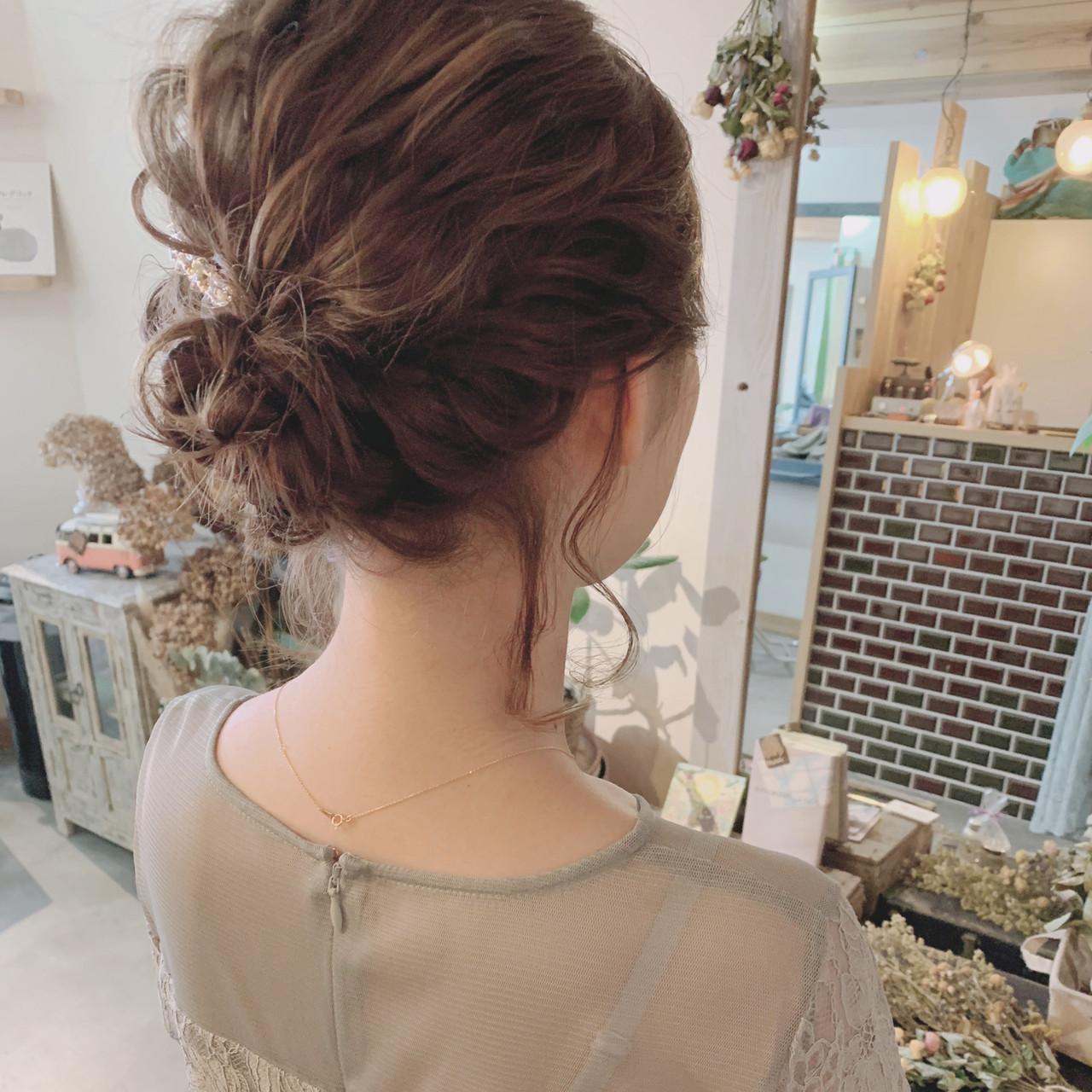 大人女子 デート 結婚式 ヘアアレンジ ヘアスタイルや髪型の写真・画像