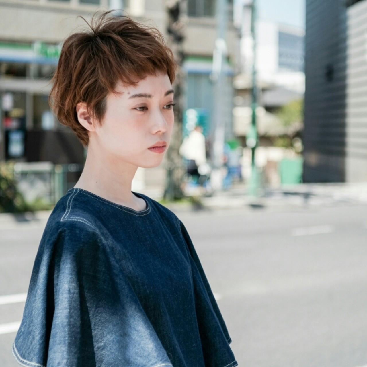 オン眉ですっきり☆前髪ありのショートヘア 大金亮介