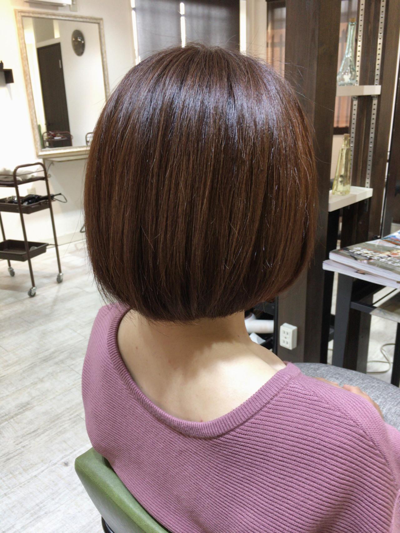 ブランジュ ボブ ナチュラル 美髪 ヘアスタイルや髪型の写真・画像