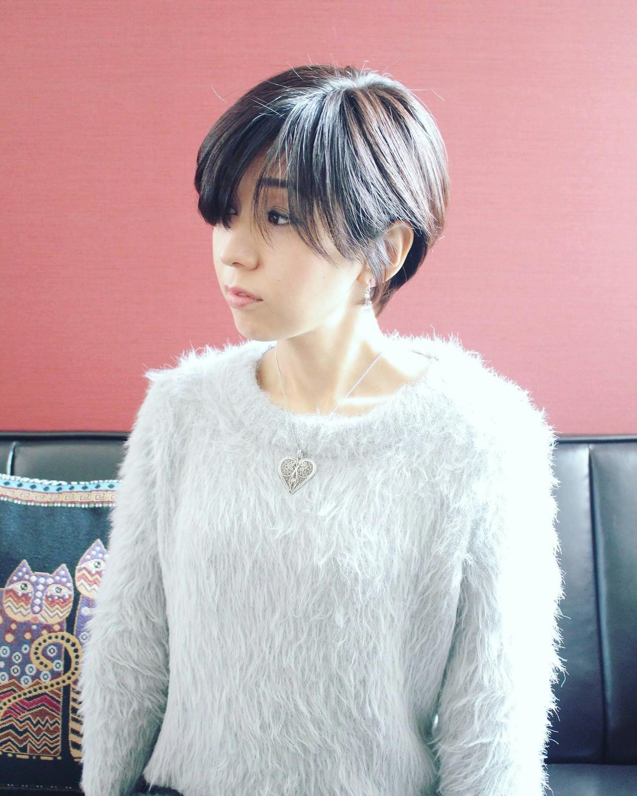 前髪長めで女っぽさ抜群のベリーショート Seiichirou Ueda