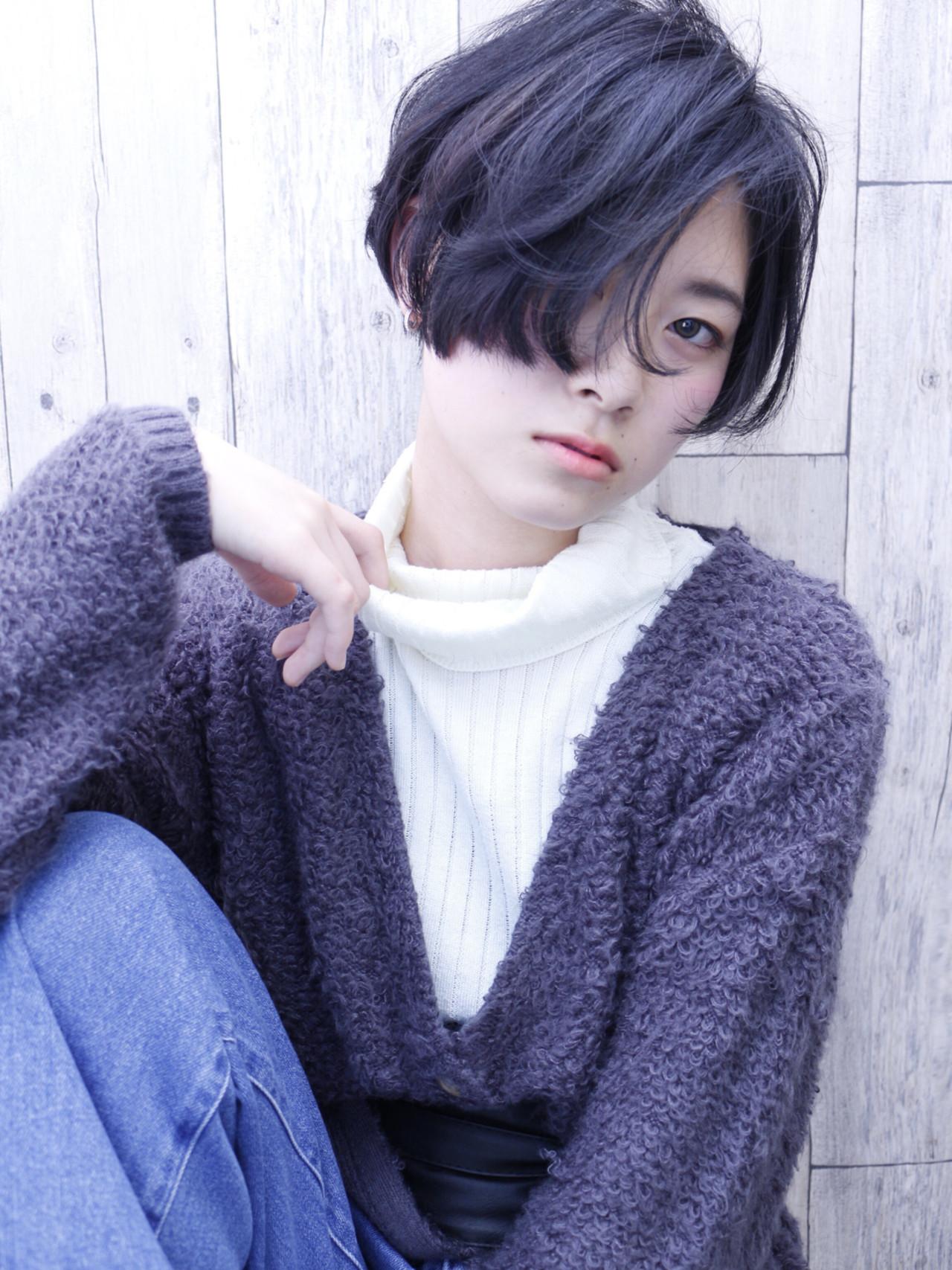 長め前髪でミステリアスなベリーショート Nor-Su