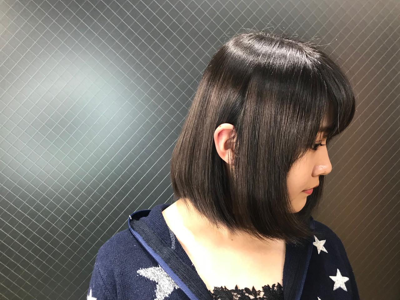 うる艶カラー ハイライト ローライト ナチュラル ヘアスタイルや髪型の写真・画像