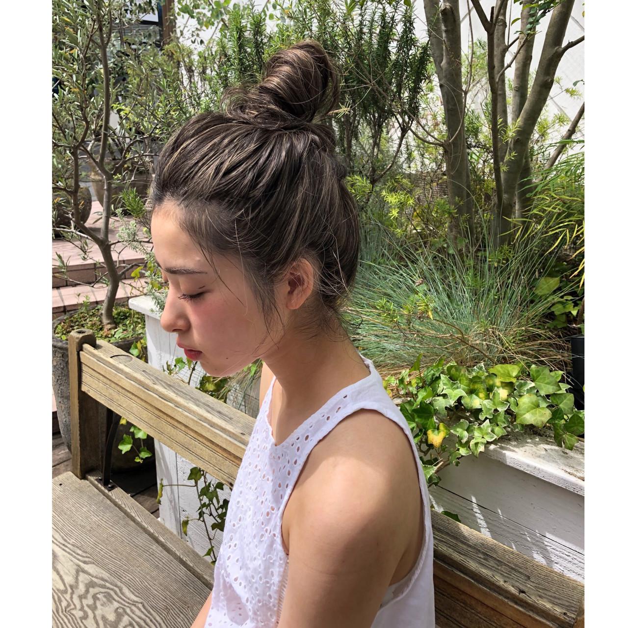 ローライト ハイライト 3Dカラー ロング ヘアスタイルや髪型の写真・画像