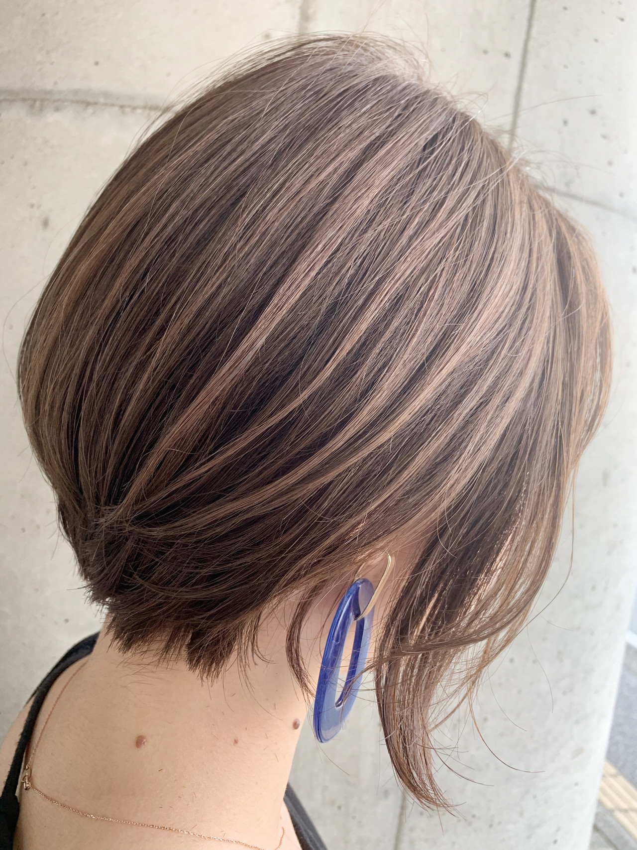大人ハイライト ベージュ ナチュラル ブラウンベージュ ヘアスタイルや髪型の写真・画像